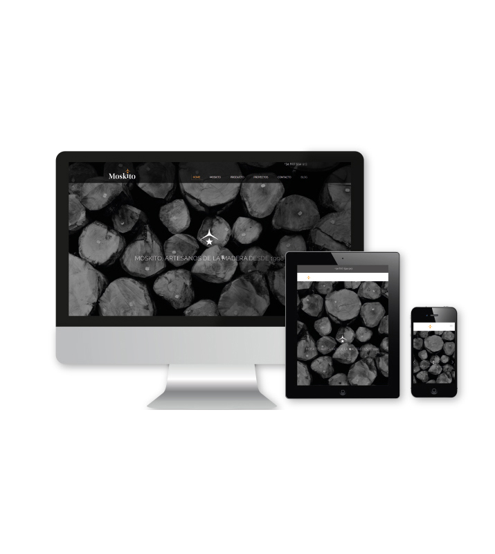 Moskito parquets Barcelona web responsive