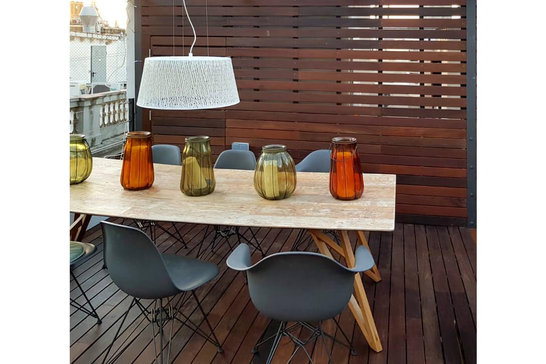 Decoración de terrazas con tarima de madera para exterior