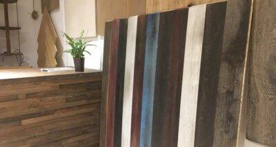 Moskito tienda de parquets en Barcelona vista mostrador madera